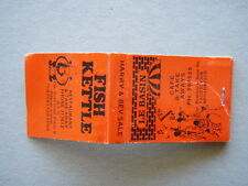FISH KETTLE RESTAURANT & TAKE AWAY BYO HARRY & BEV SALE 317612 - MATCHBOOK