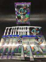 2019 Bowman Chrome Jarred Kelenic (18x) Lot w/ Purple Shimmer +More*DES*Mariners