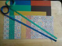 """Stampin Up! MOROCCAN Card Kit 6 X 6"""" Designer Paper Ribbon"""