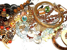 LARGE LOT VINTAGE 50S'TO NOW ASSORTED MIXED JEWELRY-REPAIR/SALVAGE
