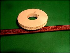 """Celtic Narrow Border Leather Emboss Roll High Impact Poly 3/8"""" Wide"""
