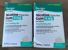 Perrigo Nicotine Gum Stop Smoking Aid 4mg Mint 220 Pieces