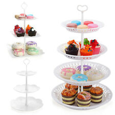 Nuovoware 3/4-Tier Cake Stand Cupcake Dessert Wedding Party Display Tower Plate
