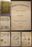 Reuschle Illustrierte Geographie für Schule und Haus 1856 Wissen lernen sf