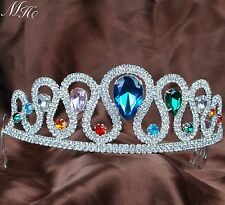 Multi-Color Tiaras Hair Combs Handmade Crystal Crowns Wedding Pageant Prom Party