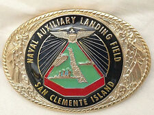 Naval Auxiliary Landing Field (San Clemente) Belt Buckle (Solid Brass and Gold)