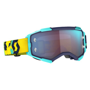 2021 SCOTT Goggle Fury Blue/Orange Blue Chrome Works MX, Enduro, MTB.
