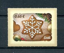Estonia 2016 estampillada sin montar o nunca montada Galletas Navidad 1v S/un conjunto de sellos