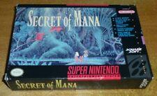 Secret of Mana - Super Nintendo SNES, Original Empty Game Box Only