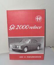 Uso e manutenzione Alfa Romeo GT 2000 GTV use and maintenance owner's manual-