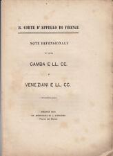 DIRITTO COMMERCIALE CAUSA GAMBA GIOVANNELLI VENEZIANI LIQUIDAZIONE SOCIETÀ 1881