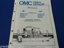 1985, 65 Commercial Models OMC Evinrude Johnson Parts Catalog