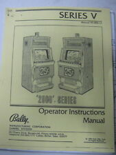 BALLY - V2000 -  VIDEO POKER MANUAL PDF and CLEAR CHIP
