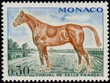 """MONACO N° 833 """"CHEVAUX DE SANS, SELLE FRANCAIS 30 C"""" NEUF xx TTB"""