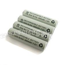 4 pcs AAA 3A 450mAh 1.2V Ni-Cd Ni-Cad Solar Light Rechargeable battery Grey