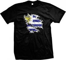 Uruguay Shred Flag Uruguayan Pride Orgullo Bandera Uruguaya Mens T-shirt