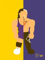 Scott Steiner X Big Poppa Pump Wrestling Alter Ego Art Series 8x10 WWF WCW