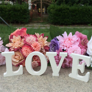 Romantic Wooden LOVE Letters White Wedding Sign Decor Wedding Photography Props