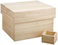 Kome Bitsu Japanese Wooden Rice Container Stocker Box Keep fresh dry 5kg 11 lbs