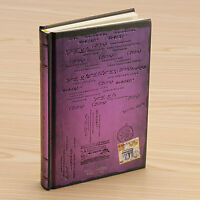 PURPLE - Retro Vintage Notebook Journal Diary Sketchbook Hard Cover Thick Blank