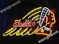 INDIAN MOTORCYCLE Logo Beer Bar Real Glass Neon Light Sign FREE SHIPPING Gift