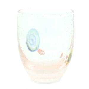 Murano Glass Shot Artisan Glass Light Pink Yellow Blue Handmade Millefiori 2oz