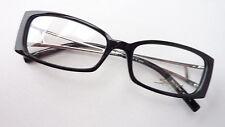 Damenbrille Gestell mit Schmuckbügeln schwarz silber Strass-Decor elegant Gr. M