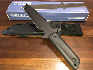 """Cold Steel GI Tanto Knife 80PGTK 12"""" overall. 7 3/8"""" black finish. New In Box."""