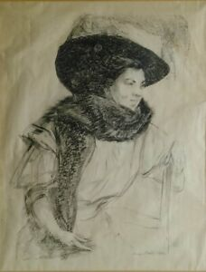 Old Signed 1906 Painting Drawing High Quality Unknown Unidentified Modern Art