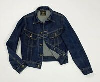Lee slim jeans jacket donna usato M denim giacca blu giubbino luxury wear T4932