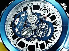 Invicta 50mm SKULL GHOST RIDER FIRE BLUE Swiss ISA Chronograph SS Bracelet Watch
