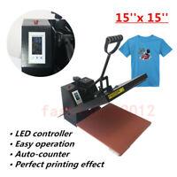 15''x15'' Digital Heat Press Transfer Machine Sublimation T-shirt Printing 220V