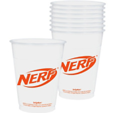 NERF 16oz PLASTIC CUPS (25ct) ~ Birthday Party Supplies Beverage Drinking White