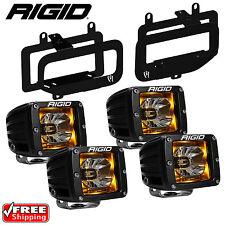 Rigid Radiance LED Fog Light Kit Amber Backlight for 15-17 Ford F150 46555 20204