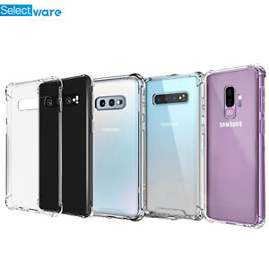 Samsung Galaxy S9 S10 S10E S10 Plus ShockProof TPU Gel Soft Silicone Case Cover