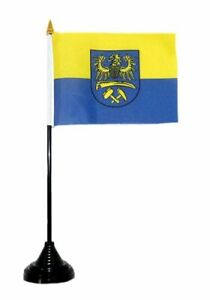 Fahne / Tischflagge Oberschlesien 10 x 15 cm Tischfahne Flagge