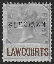 GB Great Britain 1873 Revenue Law Courts (Scotland) 1d with SPECIMEN Ovpt F/VF-H