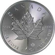 2018 $5 Canadian Maple Leaf 1 oz .9999 Silver Coin BU Brilliant Uncirculated