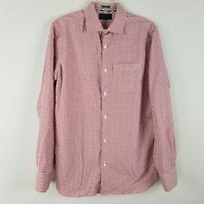 Fairline Slim 100% cotton mens long sleeved button front men shirt size M