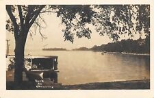 Ortonville MN Houseboat on Big Stone Lake~Fished @ 4am, Not a Nibble~RPPC c1914