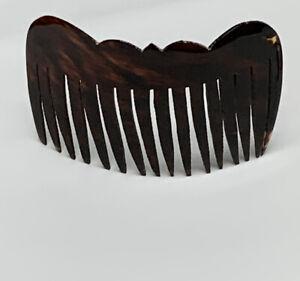 "Vintage Large Dark Tortoise Hair Comb 4"" X 2.5"""