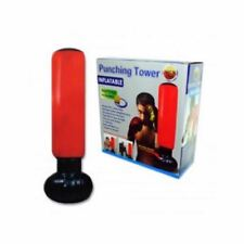 """Inflatable Fitness Punching Tower Boxing Punching Bag Pillar 63"""" W/Foot Pump"""
