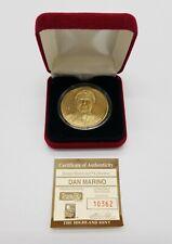 Highland Mint Dan Marino Miami Dolphins NFL Bronze Coin in Box 10362/25000 COA