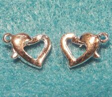 50Pcs. WHOLESALE Tibetan Silver-Plated 10mm Lobster HEART Clasps Hooks Q0063
