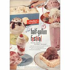 1953 Sealtest Ice Cream: Half Gallon Festival Vintage Print Ad