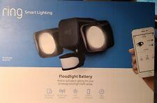 New listing Ring Smart Lighting Black Motion Outdoor Led Flood Light Battery, New