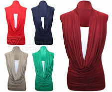 Scoop Neck Party Patternless Stretch Tops & Shirts for Women