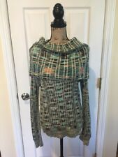 Missoni Women's Cowl Neck Knit Sweater Multi Color Medium EUC