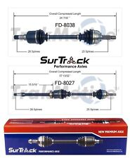 For Ford Focus FWD 2000-2011 Pair of Front CV Axle Shafts SurTrack Set