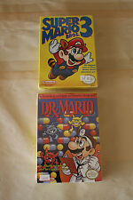 Super Mario Bros. 3 Brand New Factory Sealed + Like New Dr. Mario NES